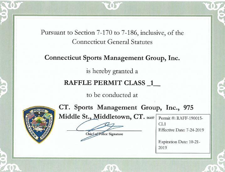$10,000 Prize Raffle | Nutmeg State Games